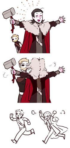 Thor Dark World & Thor Ragnarok || Loki || Cr: 李屈兰