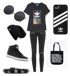 """Untitled #16"" by omaimamassher on Polyvore featuring Paige Denim, adidas and Valentino"