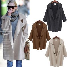 2014 New Women Batwing Sleeve Knitted Cardigan Jacket Coat Loose Casual Sweater #FullStyle #Cardigan