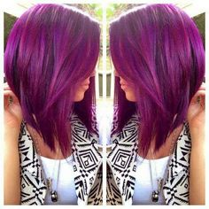 Purple-reddish purple hair