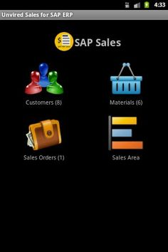 Unvired Sales for SAP is based on SAP Sales & Distribution in SAP ERP / ECC. Unvired Sales for SAP allows your sales force to work with their customers, products and sales orders from mobile devices.<p>Features:<br>  -  Use application in demo mode without any login credentials.<br>  -  Customers: Access customer information from SAP on the mobile device. Customer information can be pushed to the mobile application or downloaded on line with search criteria. Locate customer on the device…