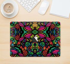 "The Neon Colored Vector Seamless Pattern Skin Kit for the 12"" Apple MacBook from DesignSkinz"