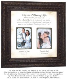 Check out Wedding Gift for Parents, Parents Wedding Gift, Parents of the Bride Gift, Parents of the Groom Gift, on photoframeoriginals Mother Of The Groom Gifts, Wedding Gifts For Parents, Wedding Thank You Gifts, Mother In Law Gifts, Wedding Gifts For Groom, Father Of The Bride, Personalized Wedding Gifts, Bride Gifts, Gift Wedding