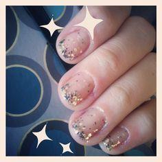 Chunky glitter nails