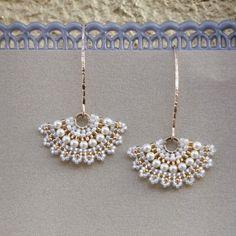 Swarovski pearl bridal earring Dangle pearl by LioraBJewelry
