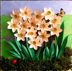 PaperMagic by Katty: Tutorial and white daffodils picture