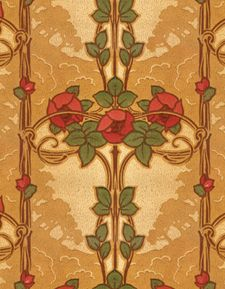 Craftsman wallpaper - rose vine