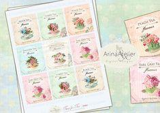 Time for Tea Labels  Custom Labels  Digital by arinaatelierDigital, $4.30