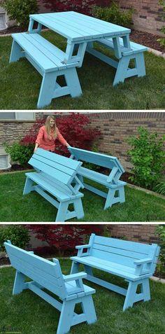 Great idea for a backyard table