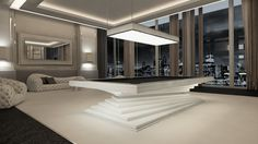 Dinner Billiard Table, Billiard Table, Pool Billiard, Tavolo Biliardo, Snooker, Billiard Room, Billiards - Lacquered white Gloss