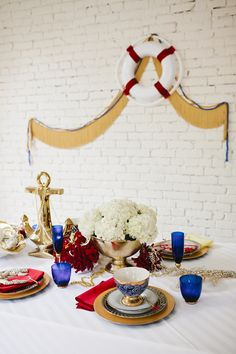 nautical glam tabletop // party by coco+kelley