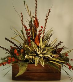 Large Rustic Floral Arrangement in Wooden Box rustic artificial flowers I like t.- Large Rustic Floral Arrangement in Wooden Box rustic artificial flowers I like t… Large Rustic Floral Arrangement in Wooden Box rustic… - Fall Flowers, Large Flowers, Dried Flowers, Floral Flowers, Large Flower Arrangements, Artificial Floral Arrangements, Garden Types, Diy Garden, Garden Ideas