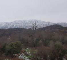 Snow on the hills!