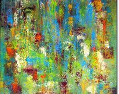 Canvas Art Abstract Acryl schilderij door ORIGINALARTbyANDREA