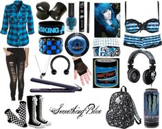 """Something Blue"" by gothicgirl123 ❤ liked on Polyvore"