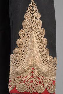 Victorian Oxfordshire Hussars Dress Tunic detail