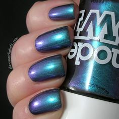 Models Own Beetlejuice Aqua Violet swatch swatches nail polish