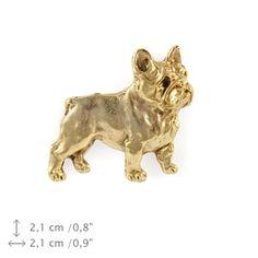 French Bulldog millesimal fineness 999 dog pin by ArtDogshopcenter