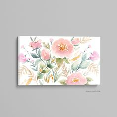 Watercolor Canvas, Floral Watercolor, Watercolour Paintings, Canvas Frame, Canvas Wall Art, Art Floral, Stretched Canvas Prints, Abstract Print, Oeuvre D'art