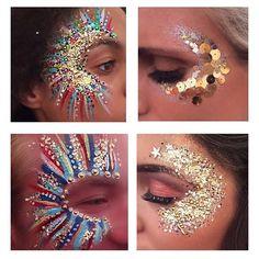 Festival glitter glitter make up, glitter party, glitter bomb, glit Glitter Carnaval, Make Carnaval, Festival Hair, Festival Looks, Edm Festival, Glitter Face Makeup, Glitter Face Paint, Glitter Eyeshadow, Pink Glitter