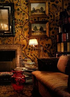 Wallpaper. Cozy. - via Gypsy House Designs