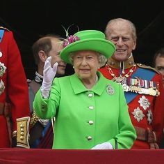 The Queen's neon green outfit caused controversy at Trooping The Colour