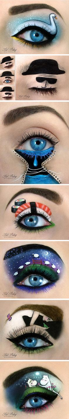 cool-eye-makeup-cat-colors-art