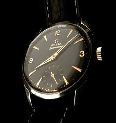 omegaforums:  Vintage Omega Seamaster Dress Watch In Stainless Steel With Rose Gold Dial Furniture Circa 1950s