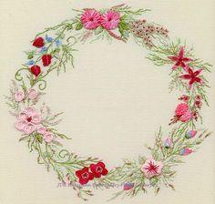 Summer Wreath Brazilian Embroidery  Brazilian Embroidery Design