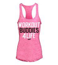 Workout Buddies 4 Life Burnout Tank Top