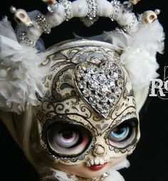 Dia de Los Muertos One of A Kind Art Doll by Roguedolls OOAK Custom Blythe | eBay