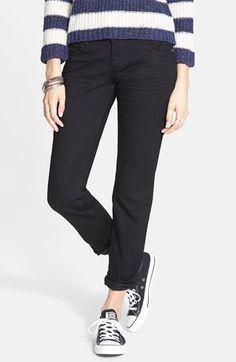 Junior Women's STS Blue 'Joey' Boyfriend Jeans (Washed Black)