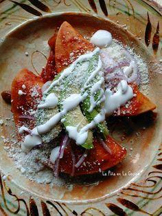Nopalitos en Salsa de Chile Ancho(Cactus in Salsa) - La Piña en la Cocina Mexican Bread Pudding, Mexican Tacos, Mexican Food Recipes, Ethnic Recipes, Latin America, Tasty Dishes, Food Videos, Avocado, Cactus
