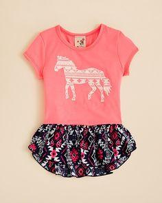 Lily Bleu Girls' Horse Tee Shirt - Sizes 2T-4T
