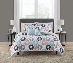 Teen Bedding, Queen Bedding Sets, Comforter Sets, Coral Bedding, Teen Bedroom, Pillow Top Mattress, Pillow Shams, Bed In A Bag, Small Pillows