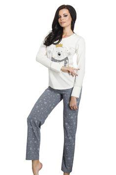 Pyjamas pour femmes Anna gris taille XL