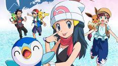 Pokemon Trailer, Ash Pokemon, Pokemon Comics, Pokemon Pearl, Ash And Dawn, Journey Pictures, Green Pokemon, Pikachu, Anime Titles
