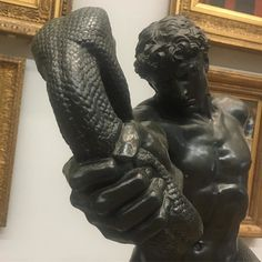 """After going through the #queerbritishart exhibition 1861-1967. I became aware of so many art works in the Tate national Collection that could have been incorporated into that exhibition. For example this one by Frederic Lord Leighton. """"An Athlete Wrestling with a Python""""(1877) ..ok I admit I have exaggerated it by my angle of focus to prove my point so to speak. #queerart #tate #hockney #wonderfulday Key Instagram, Santa Barbara Museum, Queer Art, Python, Figurative, Angles, Art Museum, Perspective, Athlete"""