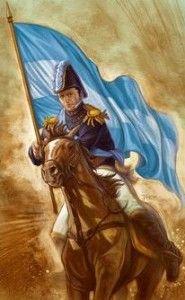 Manuel Belgrano y la bandera Argentina Gaucho, Archie, Folklore, Warfare, Princess Zelda, History, Painting, Fictional Characters, Sentences