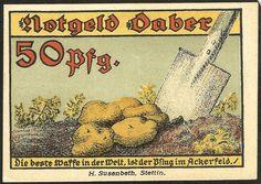 Daber Dobra Pommern 50 Pfennig 1921