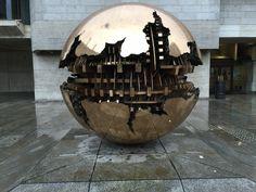 Sphere in Trinity College in Dublin, Ireland