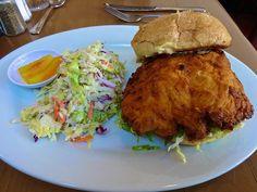 Big Mama's spicy chicken sandwich from Brenda's Meat & Three http://placesiveeaten.blogspot.com/2014/12/brendas-meat-and-three-san-francisco.html
