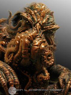 Lovecraft monsters by skullbeast on deviantART Yog Sothoth, Lovecraftian Horror, Eldritch Horror, Hp Lovecraft, Kraken, Tentacle, Cthulhu, Lion Sculpture, Deviantart