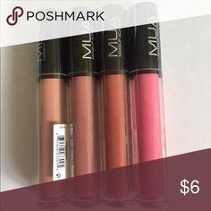 MUA make up academy luminizing lip gloss New Left to right: 1 nude, 1 blush, 2x brick, 1 rose $3.50 each, bundle to save  MUA Makeup Lip Balm & Gloss