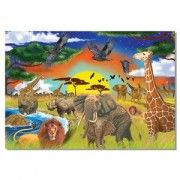 This extra thick 200-piece cardboard jigsaw puzzle features a variety of wildlife found on the Savannah. A great value with bright, sturdy packaging that will withstand many uses!