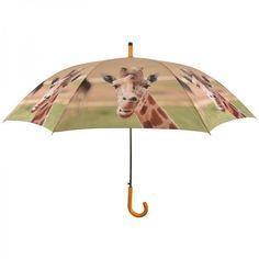 Nagy méretű esernyő zsiráf mintával, a safari kedvelőknek. Ajánljuk hozzá a zsiráf mintás bevásárlótáskát is. :)