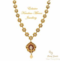 Kundan is a traditional form of Indian gemstone jewellery involving a gem set with gold foil between the stones and its mount. Mr. Kamal Saraf, owner of Saraf Jewels launches exclusive collection of Kundan Jewellery wherein enameling with vivid colours and designs. For queries; Call: 0141-4026333 or Whatsapp: +91 9829055333  #kundan #kundanjewellery #kundanmeena #finejewellery #jewellery #gold #goldnecklace #kundannecklace #necklace #jaipur #India