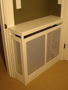Radiator cover - minneapolis - by Home Restoration Services, Inc. Home Radiators, Radiator Cover, Restoration Services, Barbie Dream House, Bedroom Colors, Pallet Furniture, Built Ins, Interior Design Living Room, Home Projects