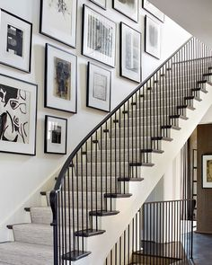 6 A Stair Hall Gallery Wall Design Ideas Stairway Decorating Design Gallery Hall Ideas stair Wall Staircase Wall Decor, Stairway Decorating, Stair Walls, Stairs, Staircase Frames, Wood Staircase, Staircases, Stairway Gallery Wall, Modern Gallery Wall