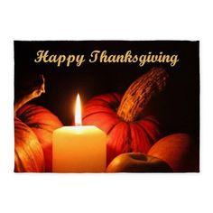Happy Thanksgiving 5x7'Area Rug on CafePress.com